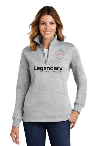 Legendary Ladies Super Warm Quarter Zip Sweatshirt - Light Heather Grey