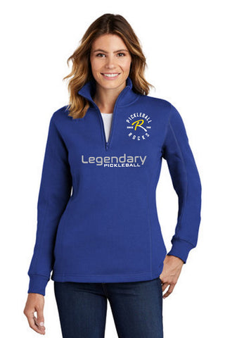 Legendary Ladies Super Warm Quarter Zip Sweatshirt - Real Royal Blue