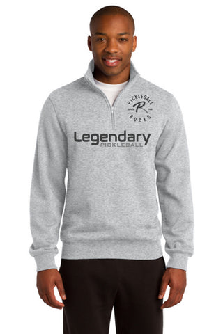 Legendary Mens Super Warm Quarter Zip Sweatshirt - Athletic Heather Grey
