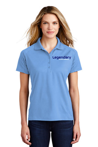 Legendary Womens Dri-Mesh Polo Shirt - Light Blue