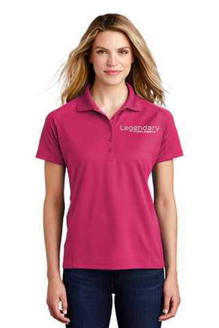 Legendary Womens Dri-Mesh Polo Shirt - Pink Raspberry
