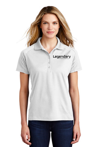 Legendary Womens Dri-Mesh Polo Shirt - White