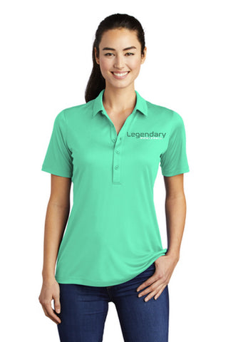 Legendary Womens UV Protected Polo Shirt - Bright Seafoam