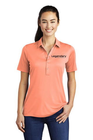 Legendary Womens UV Protected Polo Shirt - Soft Coral