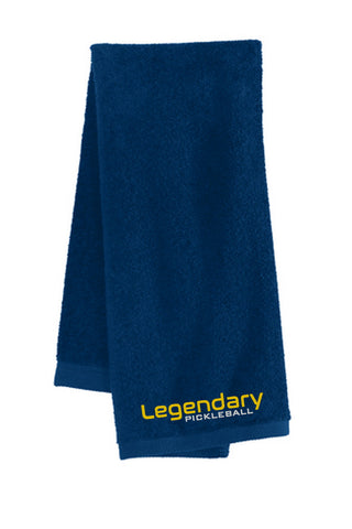 Legendary Super Absorbant Pickleball Towel - Navy/Gold/Silver