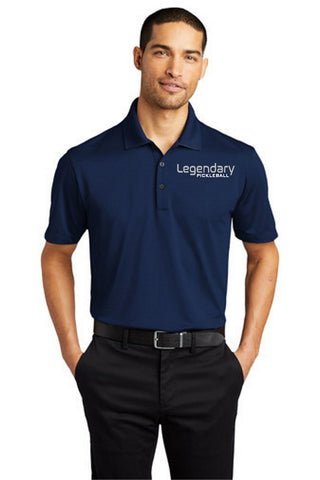 Legendary Mens Performance Dri-Fit Polo Shirt - Estate Blue