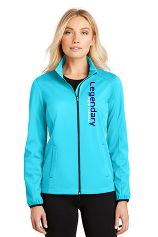 Legendary Womens Warm Soft Shell Jacket - Cyan Blue