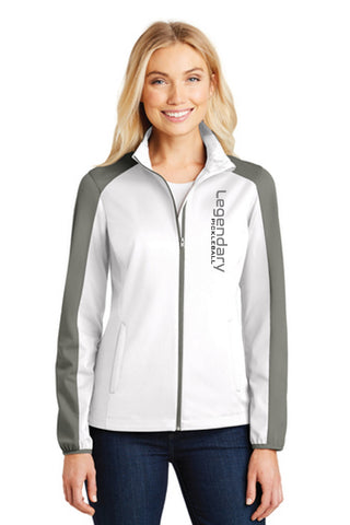 Legendary Womens Warm Soft Shell Jacket - White and Grey