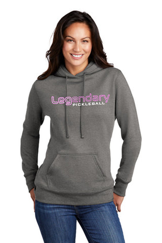 Legendary Ladies Lightweight Pullover Hoodie Hooded Sweatshirt - Graphite Heather