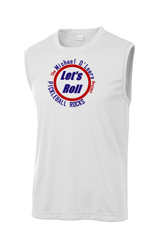 Let's Roll Mens White Sleeveless Tank