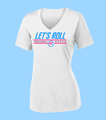 Let's Roll Ladies White SS