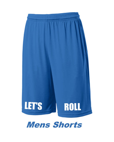 Let's Roll Mens Bright Blue Shorts
