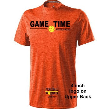 Heather Orange Pickleball Rocks Dri Fit Shirt