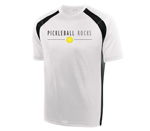 b8c92ab5 Performance Dri Fit Short Sleeve White/Black – Pickleball Shopping ...