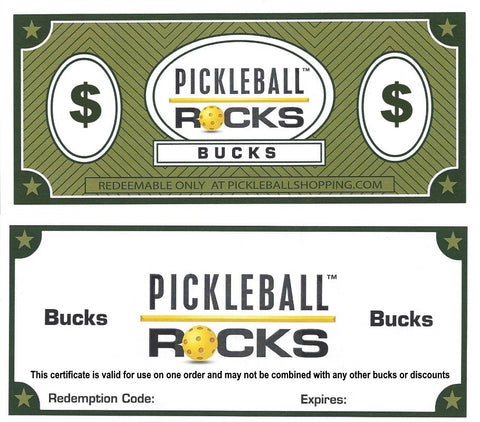 Pickleball Rocks Gift Certificate : The Perfect Pickleball Gift