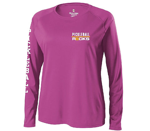 Pickleball Long Sleeve Power Pink Shirt