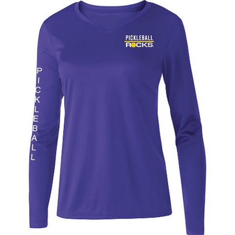 Dri Fit Purple Long Sleeve Shirt V-Neck