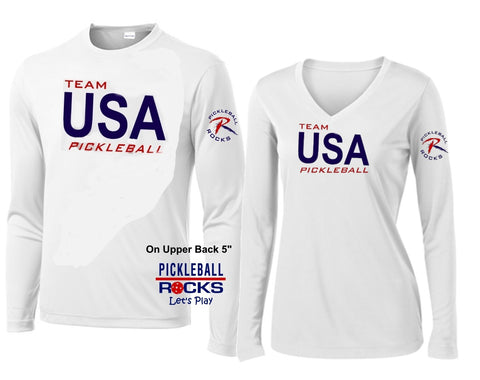 Team USA Long Sleeve Pickleball Shirt