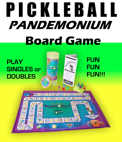 Pickleball Pandemonium : The Race To The Pickleball Podium Board Game