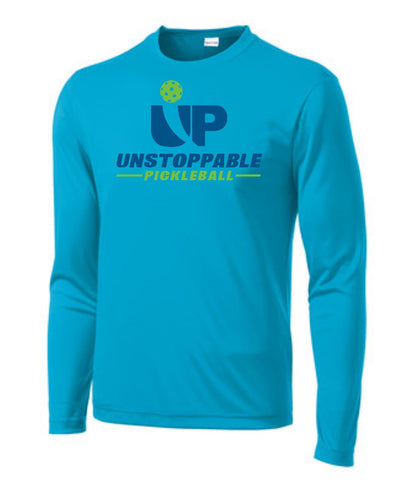 Unstoppable Pickleball - Mens Atomic Blue Long Sleeve Shirt