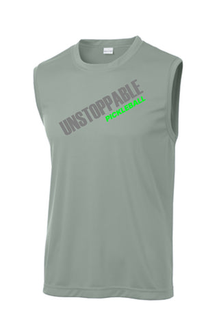 Unstoppable Pickleball - First Edition Grey Dri Fit Sleeveless Shirt