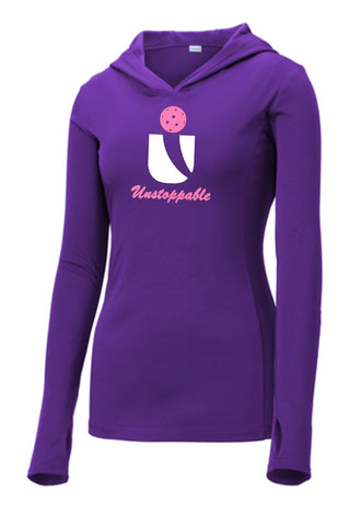 Unstoppable Pickleball - Ladies Ultra Lightweight Long Sleeve Hoodie