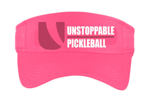Unstoppable Pickleball - First Edition Dri Fit Bright Pink Visor