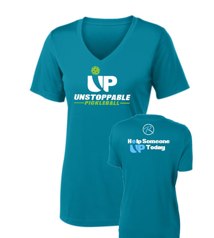Unstoppable Pickleball - First Edition Tropic Blue VNeck