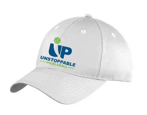 Unstoppable Pickleball White Unstructured Hat