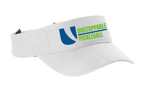 Unstoppable Pickleball - First Edition Dri Fit White Visor