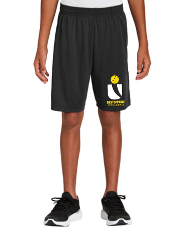 Unstoppable Pickleball Juniors - Unisex Black Shorts