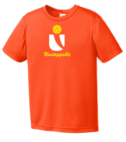 Unstoppable Pickleball Juniors - Unisex Neon Orange Tshirt