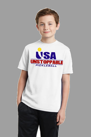 Unstoppable Pickleball Juniors - Unisex USA Red White and Blue