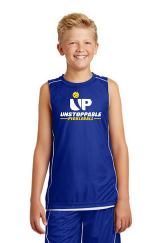 Unstoppable Pickleball Juniors - Blue and White Reversible Sleeveless Tshirt