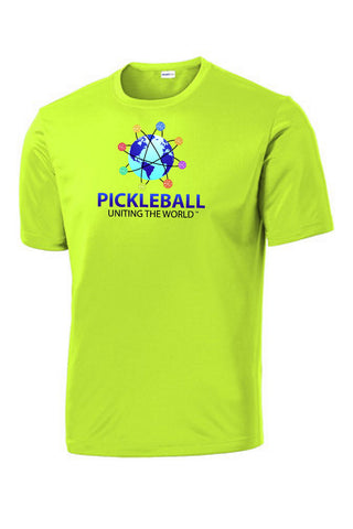 Uniting The World - Pickleballs In Orbit: Mens Neon Yellow