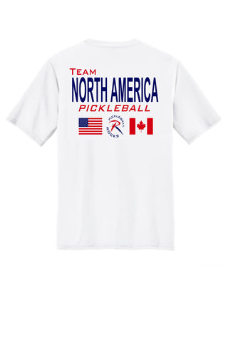 9629bd66 Men's White Short Sleeve Team North America Dri Fit Shirt – Pickleball  Shopping From The Pickleball Rocks Team