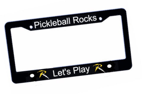 Pickleball Rocks License Plate Frame