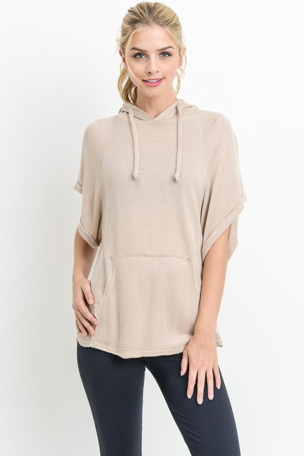 Casual Tunic Hoodie (Natural)