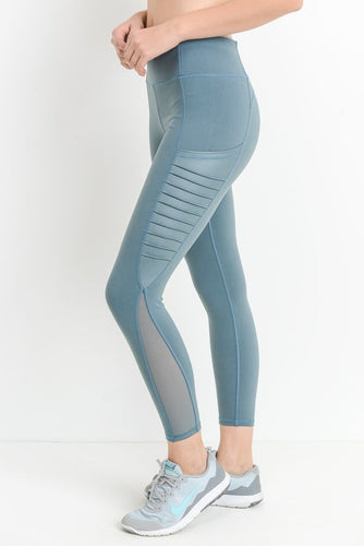 'Christina' Leggings (Light Teal Blue)
