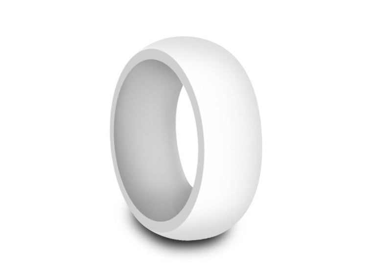 Men's Silicone Ring - Cross Fit - Rubber Ring - Wedding Ring - Avtive - Flexible - Silicone Ring - Comfort Fit  8mm