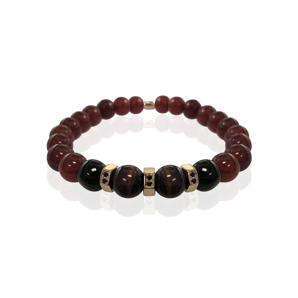 "Spiritual beaded bracelet 8"" - Vantani Wedding Bands"