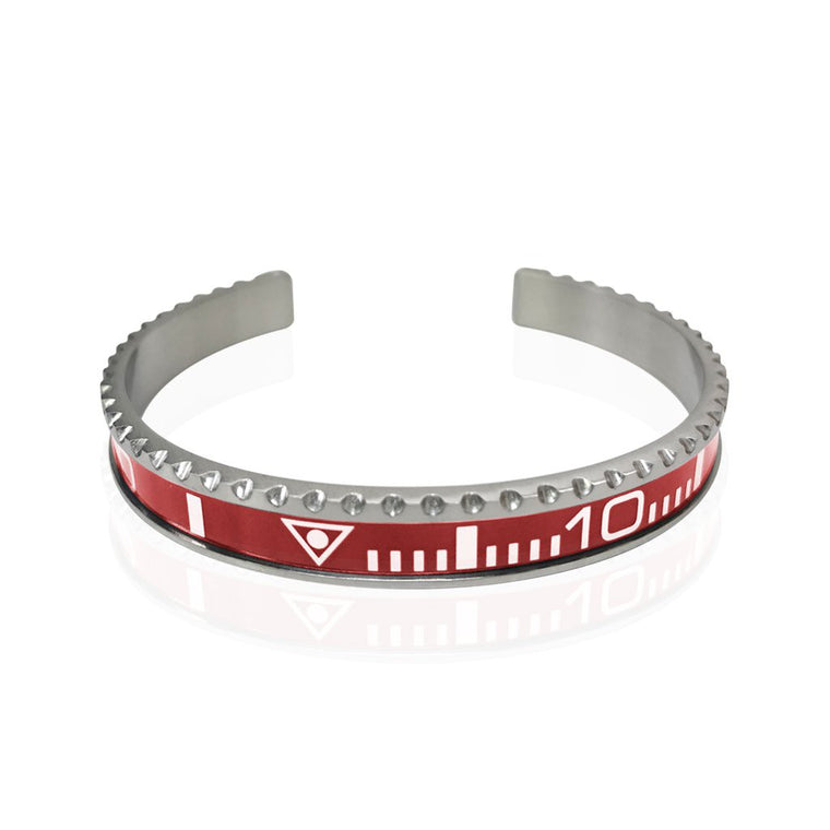 Stainless Steel Red Watch Speedometer Bracelet - Vantani Wedding Bands