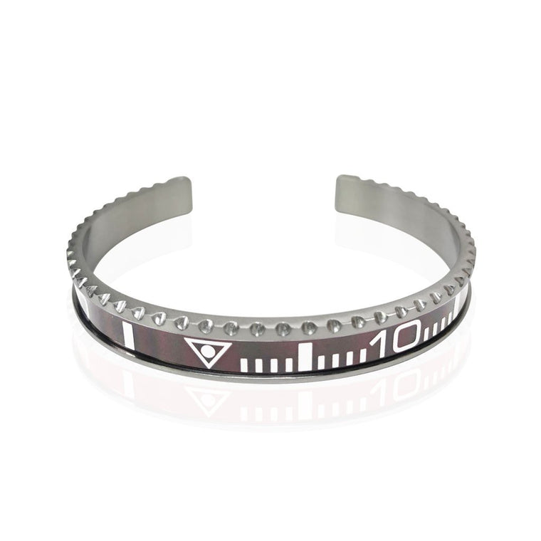 Stainless Steel Grey Watch Speedometer Bracelet - Vantani Wedding Bands