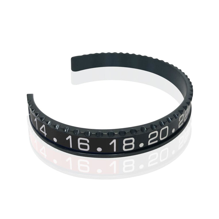 Stainless Steel Black and Silver Watch Speedometer Bracelet - Vantani Wedding Bands