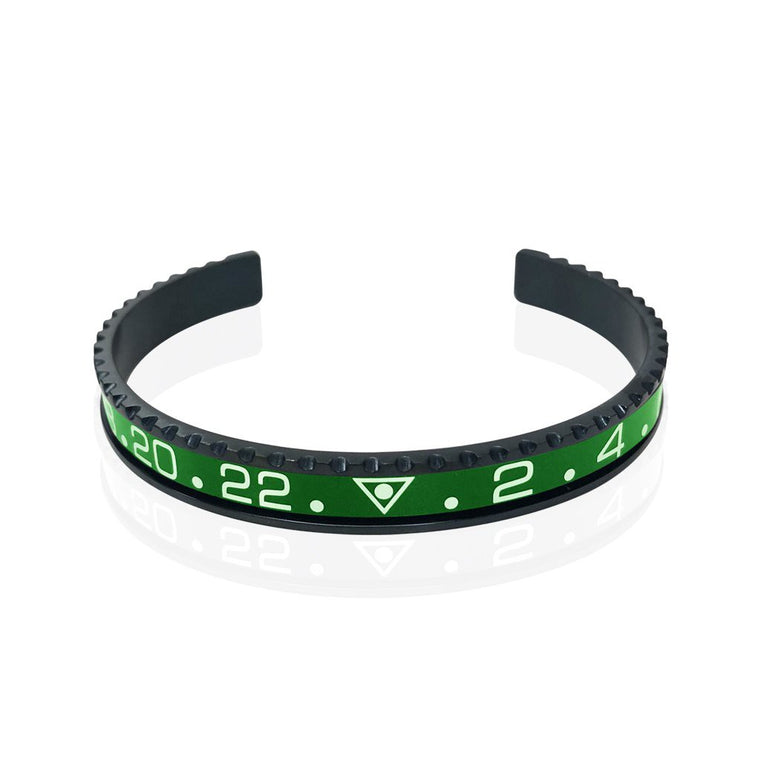 Stainless Steel Green Watch Speedometer Bracelet - Vantani Wedding Bands