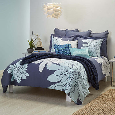 Ashley Duvet Set, Indigo