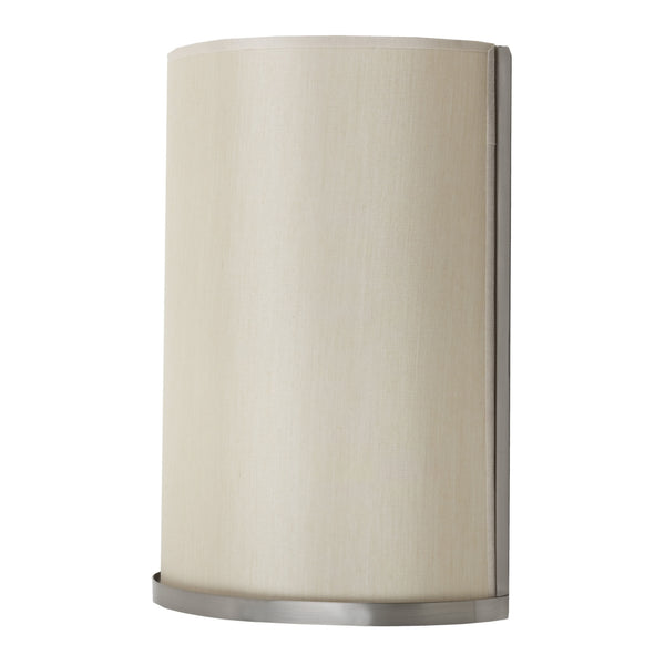 Brushed Nickel finish with Eggshell Silk Glow shade