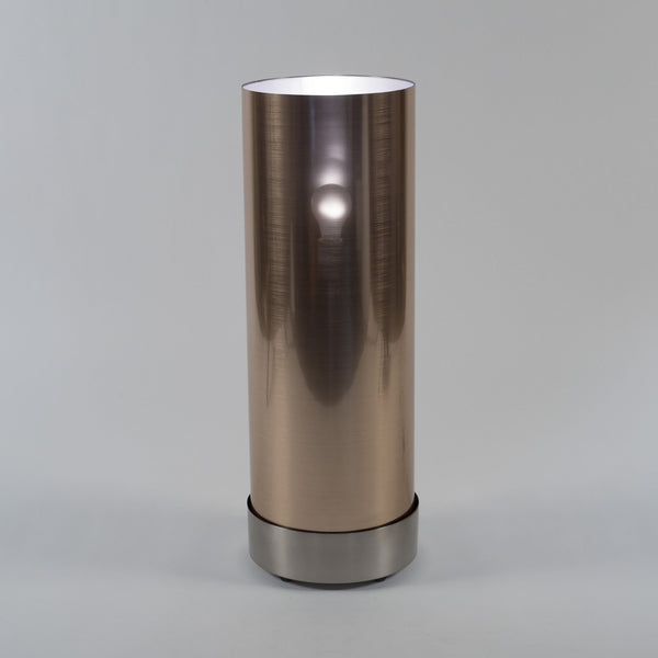 Brushed Nickel finish with Copper Duotrans shade