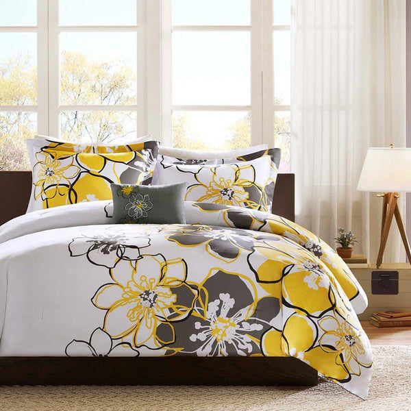 Allison Polyester Peach Skin Printed Comforter 3 Pieces Set - Bedding | Mi Zone