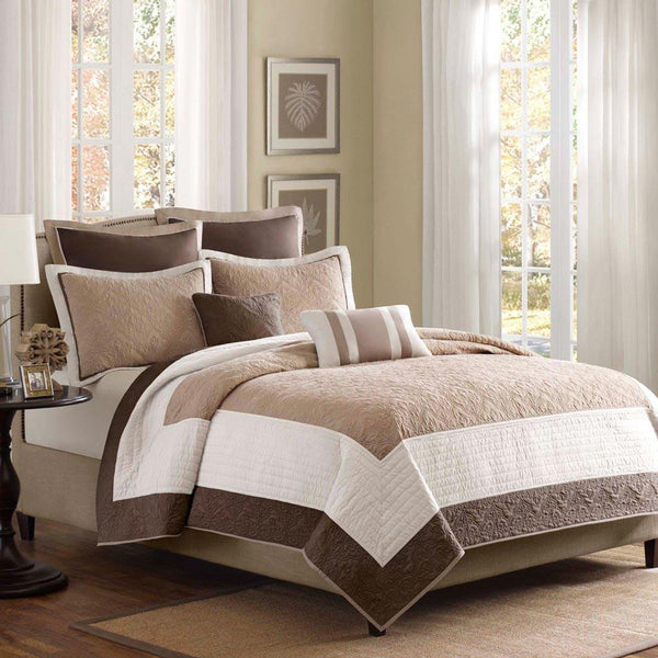 Attingham Polyester Micro Fiber Pieced 7 Pieces Set - Bedding | Madison Park
